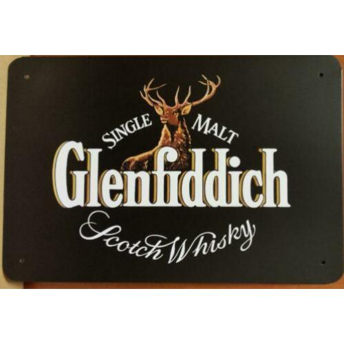 Glenfiddich scotch whisky reclamebord metaal bar mancave
