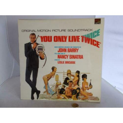 1968 Vinyl James Bond. You Only Live Twice. Soundtrack.