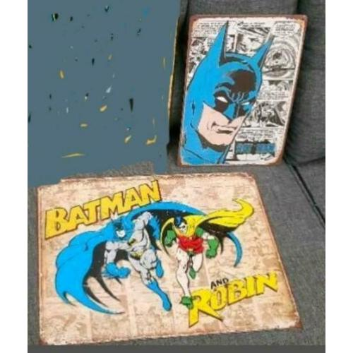 BATMAN METALEN BLIKKEN BORDEN wandplaten the joker comics