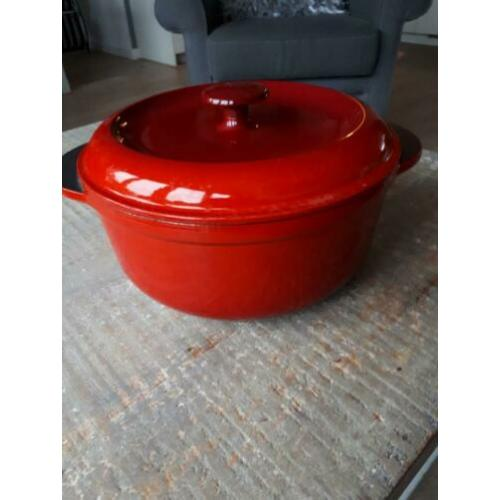 Zware gietijzeren pan. Made in france