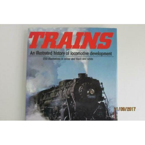 een engels treinenboek  trains  en die is nog als nw